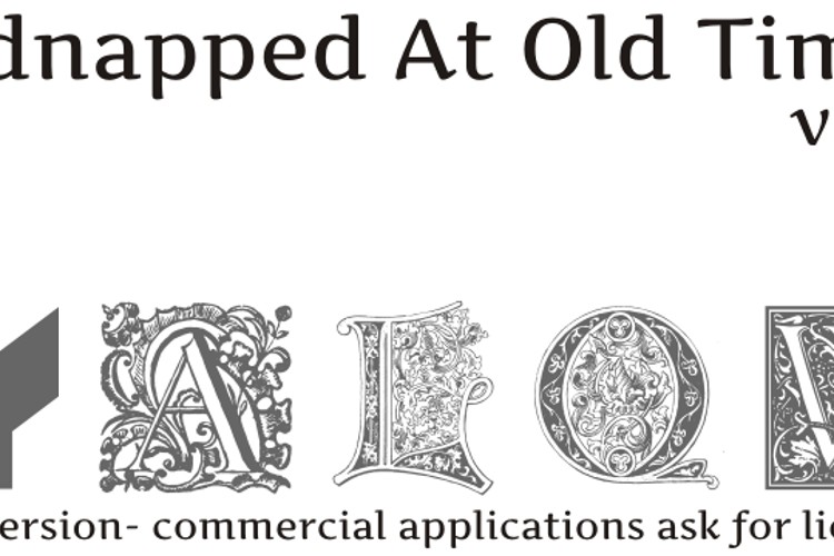 Kidnapped At old Times Free Sev Font