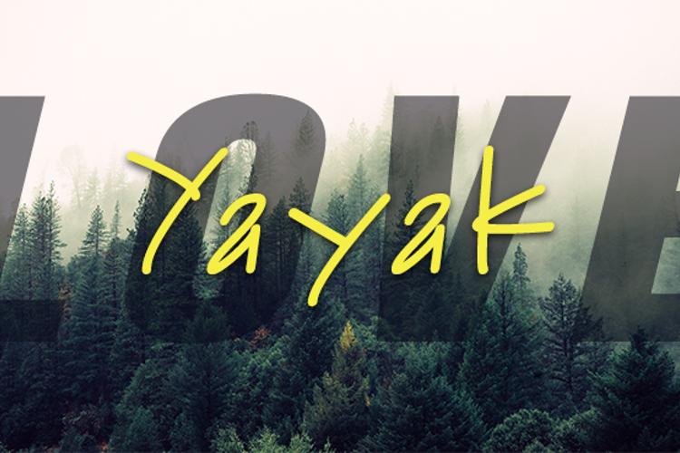Yayak Font