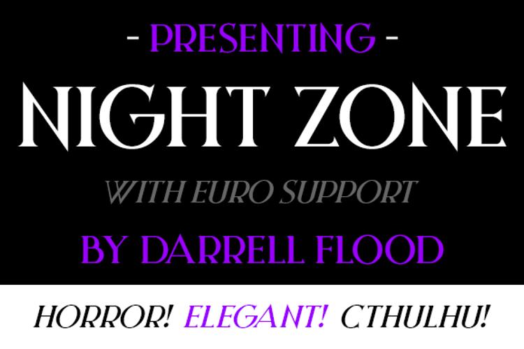 Night Zone Font