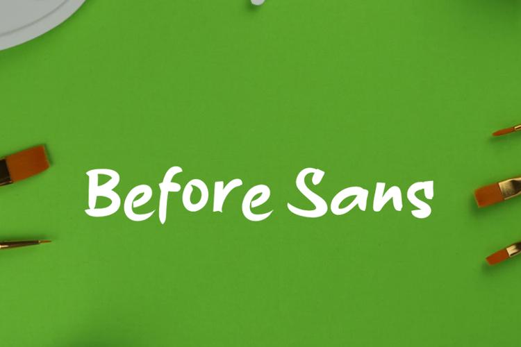 b Before Sans Font