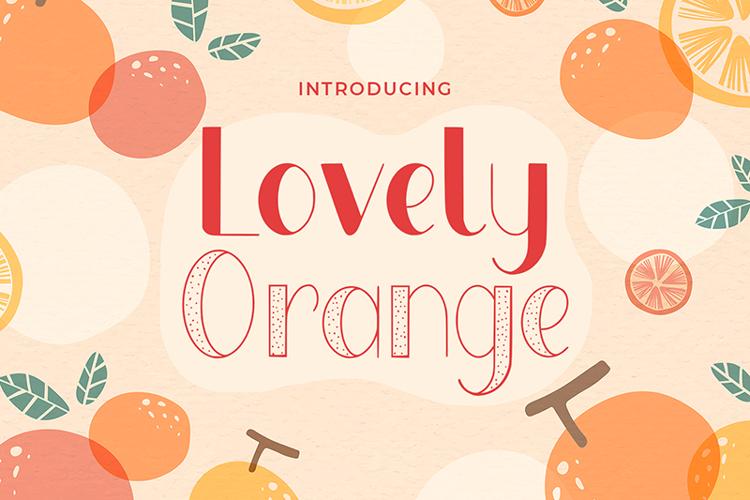 Lovely Orange Font