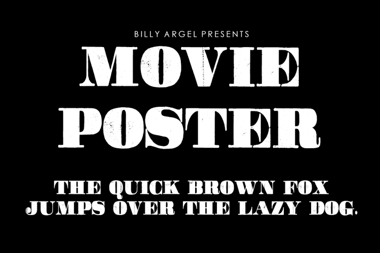 Movie Poster Font