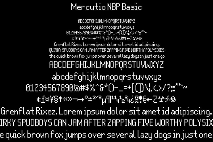 Mercutio NBP Basic Font