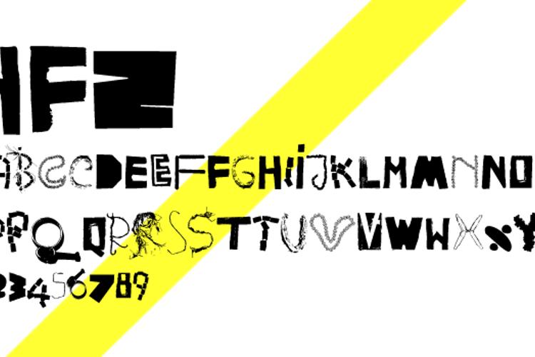 HappyFrushZero Font