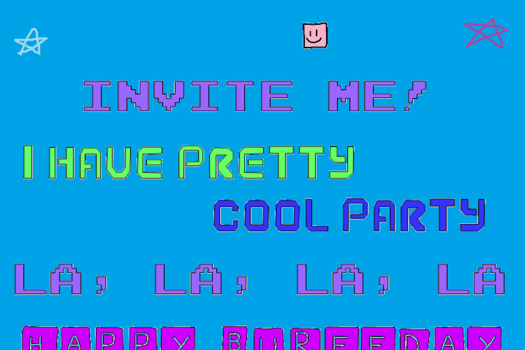 I Have Pretty Cool Party! Font