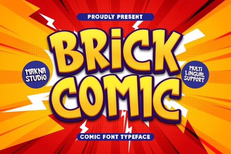 brick comic Font