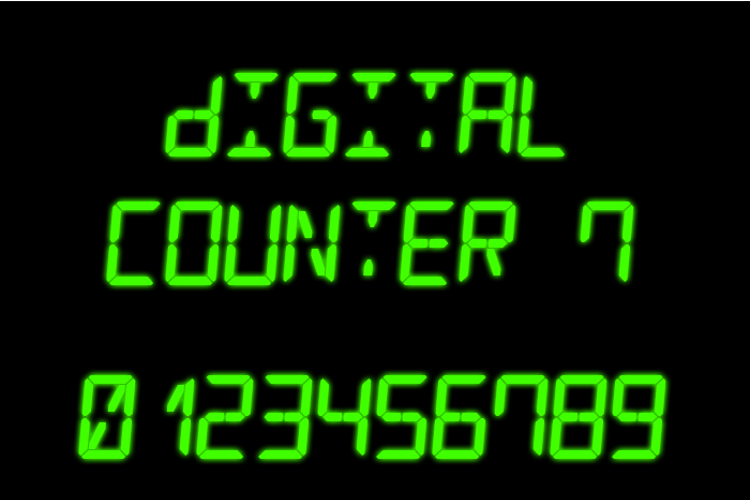 Digital Counter 7 Font