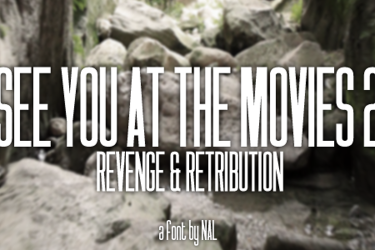 See You At The Movies 2: Reveng Font