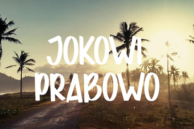 JOKOWI PRABOWO Font