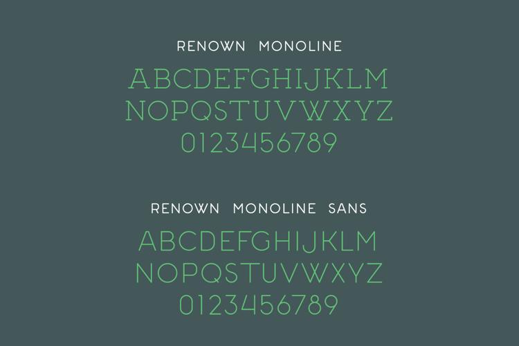 Renown Monoline Font