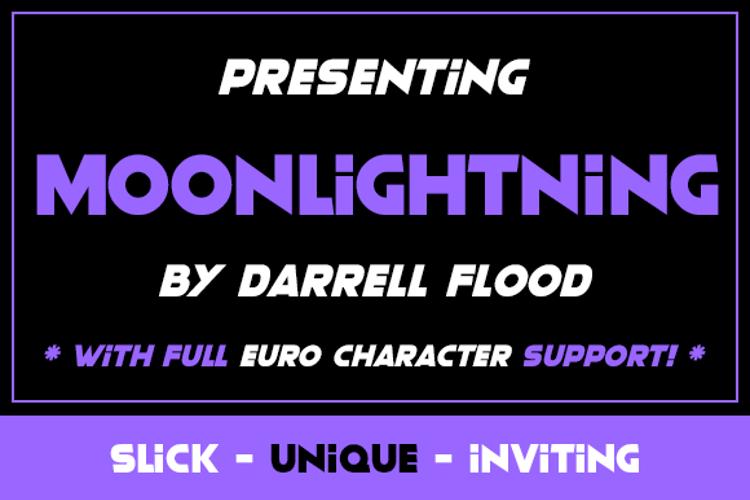 Moonlightning Font