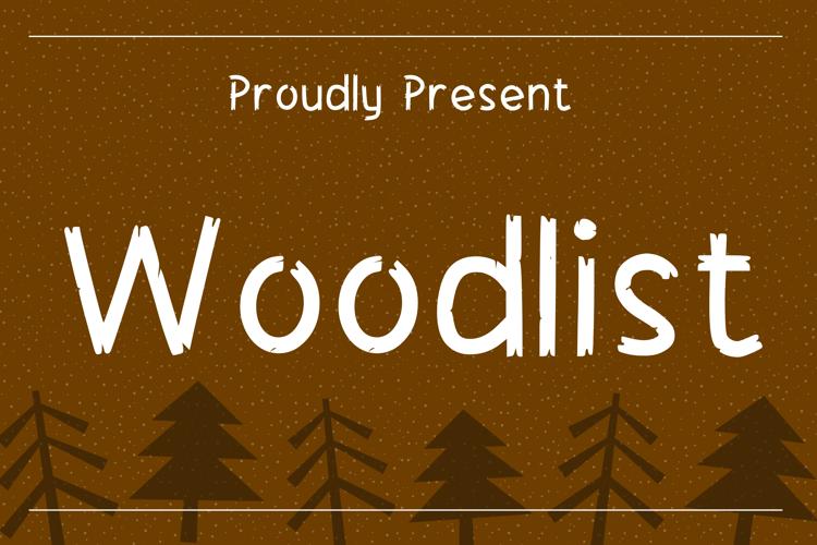 Woodlist Font