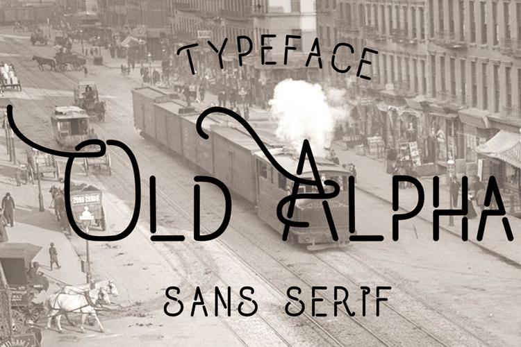 Old Alpha Font