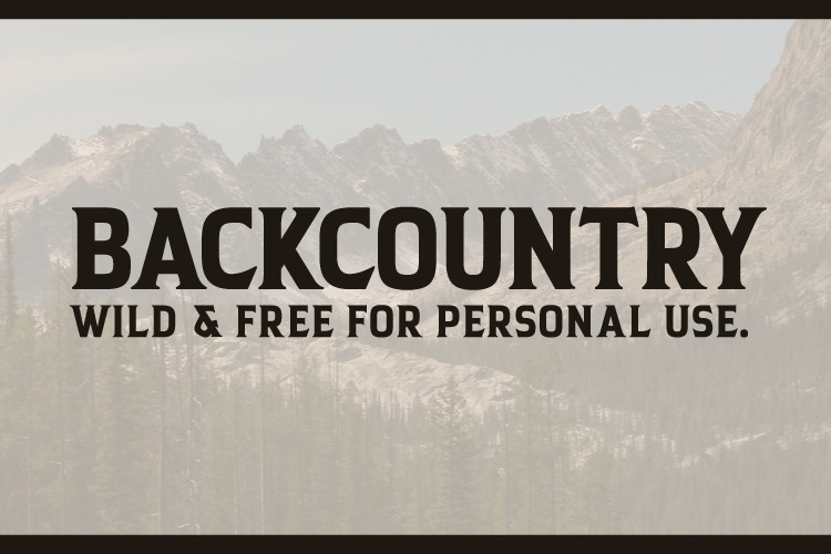 Backcountry Font