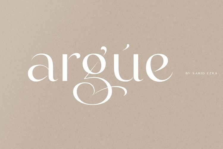 Argue Font