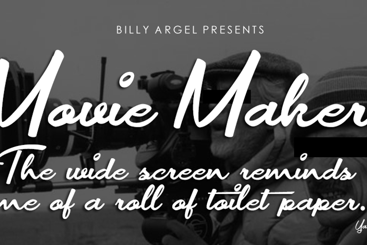Movie Makers Font