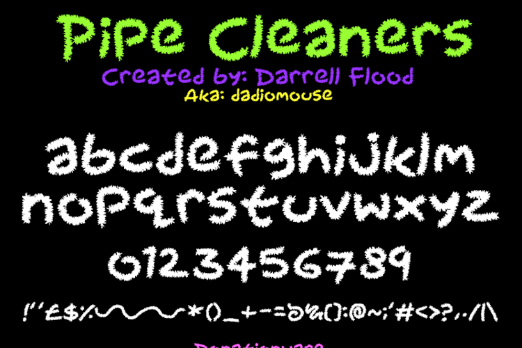 Pipecleaners Font