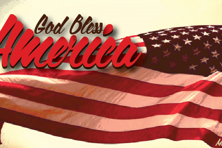 God Bless America Font
