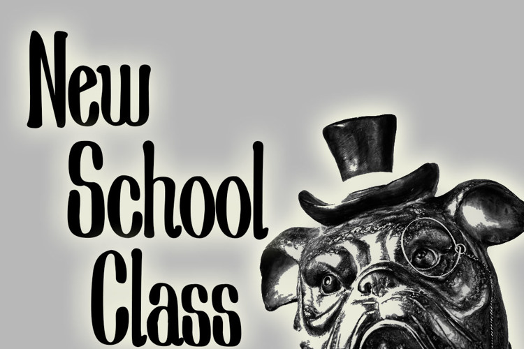 New School Class Med Font