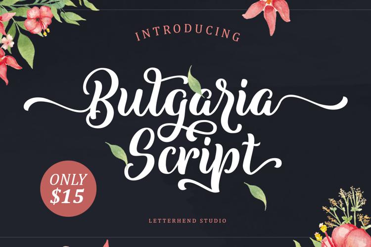 Bulgaria Script Font