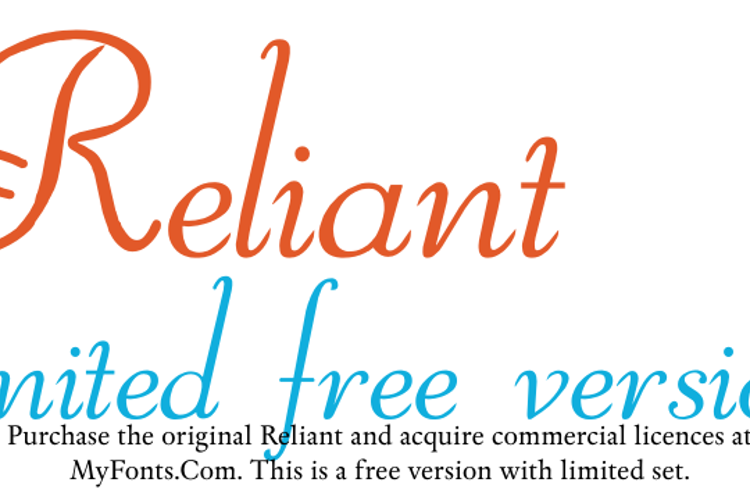 Reliant Limited Font