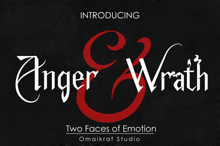 Anger & Wrath Font