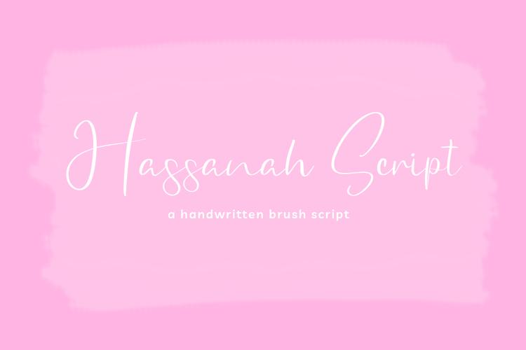Hassanah SIgnature Font