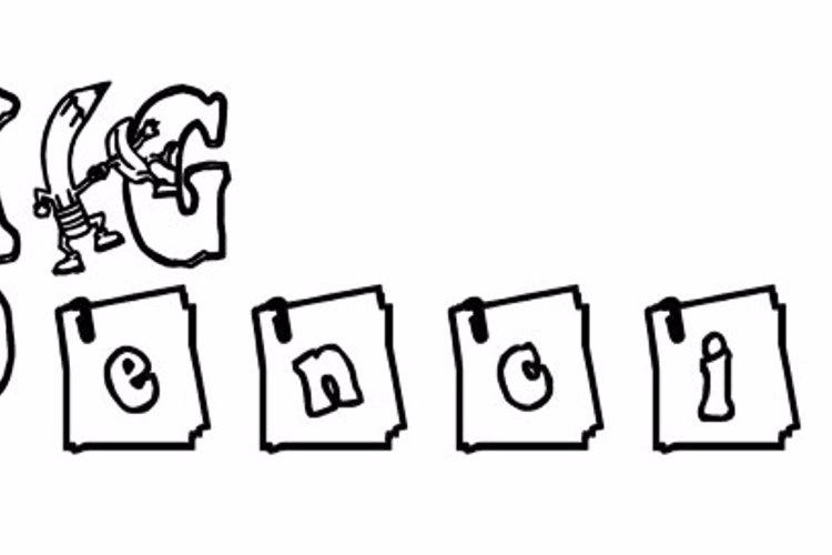 KG PENCIL Font