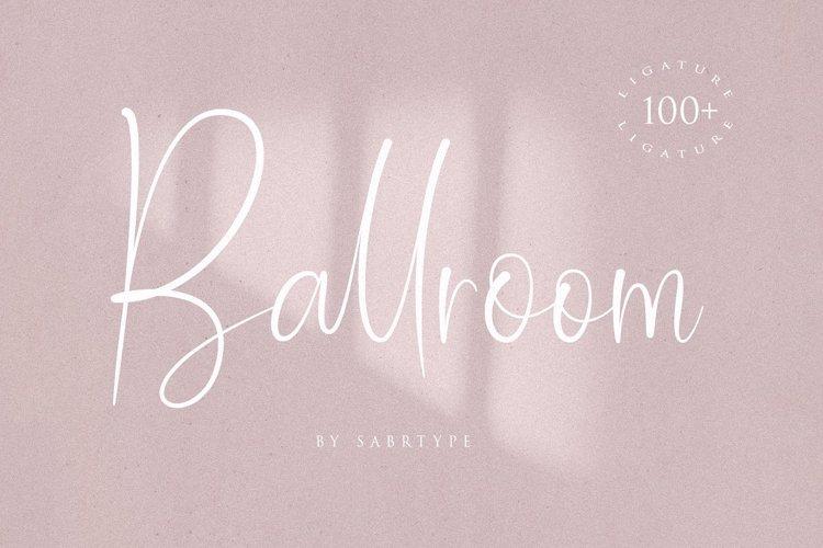 Ballroom Font