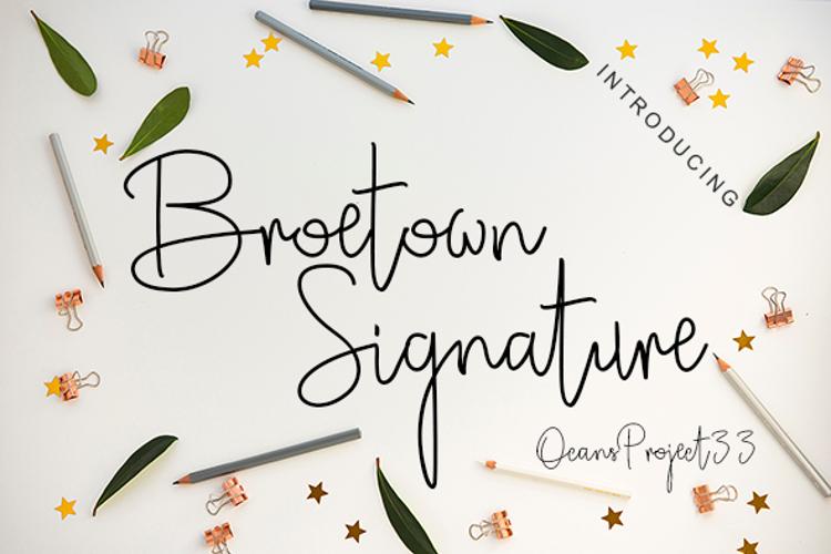 Broetown Signature Font