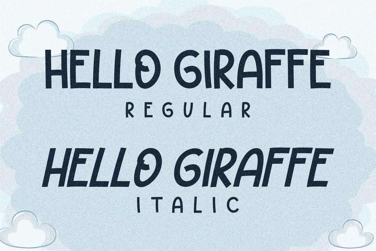 HELLO GIRAFFE Font