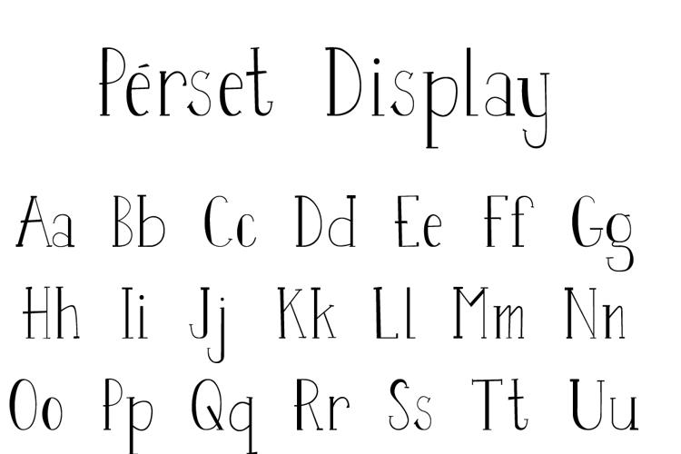 Perset Font