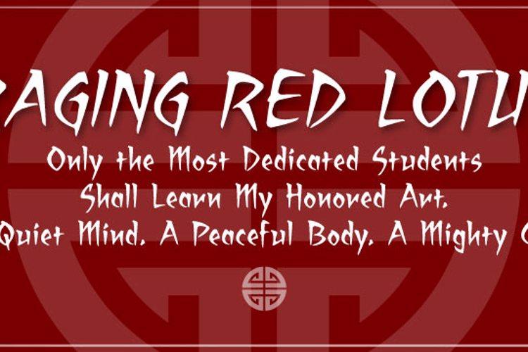 Raging Red Lotus BB Font