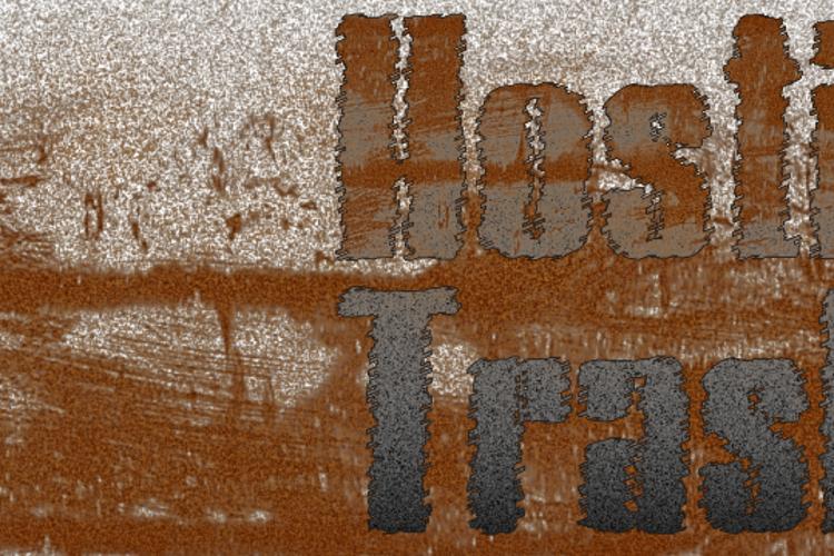 Hostil Trash Font