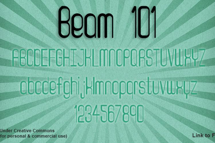 Beam 101 Font