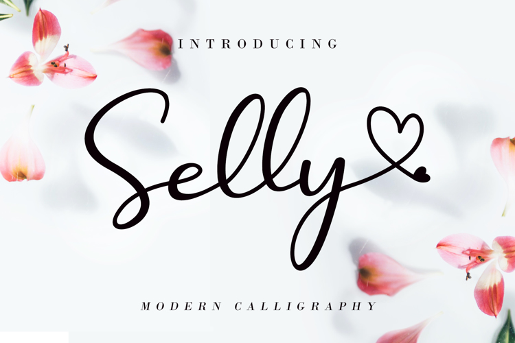 Selly Calligraphy Font