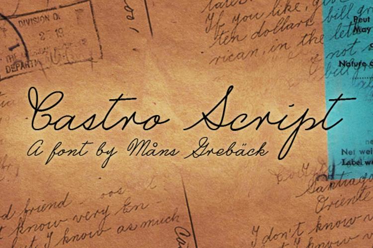 Castro Script Font