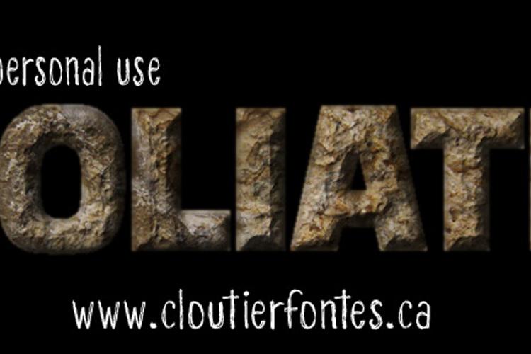 CF Goliath Demo Font