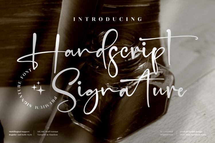 Handscript Signature Font