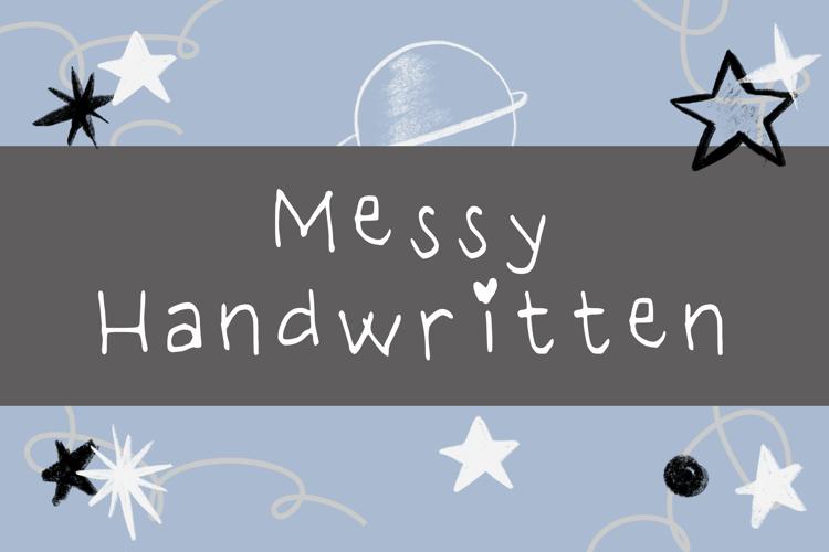 Messy Handwritten Font