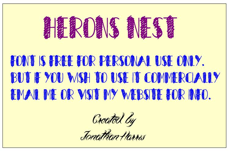 Herons Nest Font