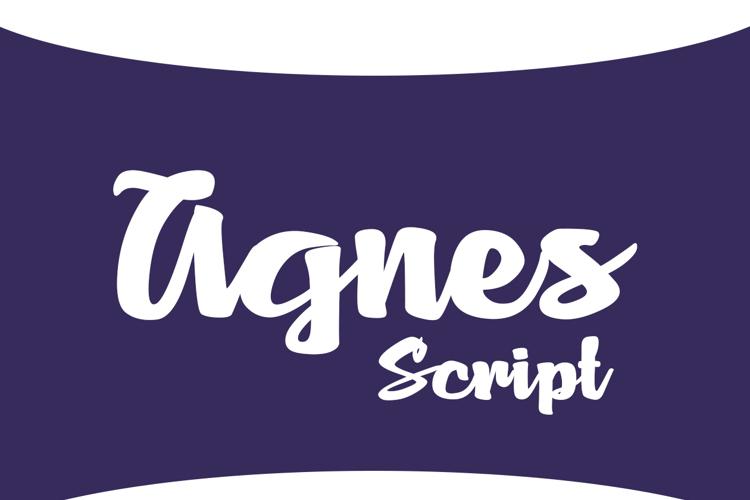 Agnes Script Font