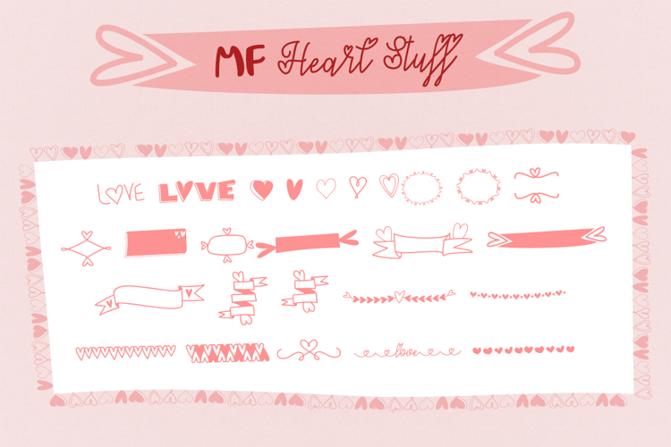 MF Heart Stuff Font