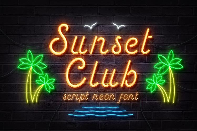 Sunset Club Font