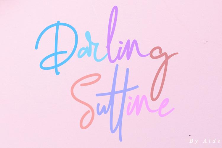 Darling Suttine Font