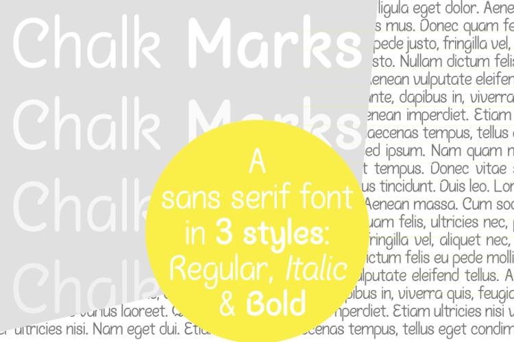 Chalk Marks Font