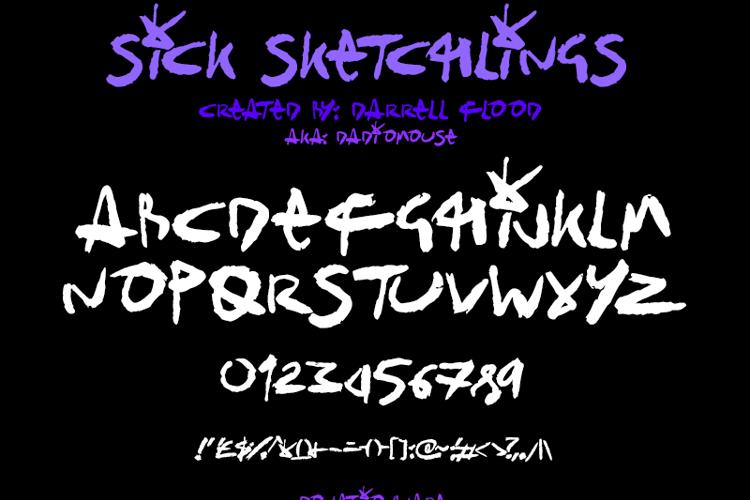 Sick Sketchlings Font