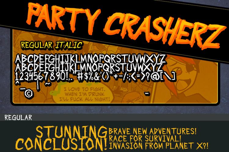 Party Crasherz PG Font