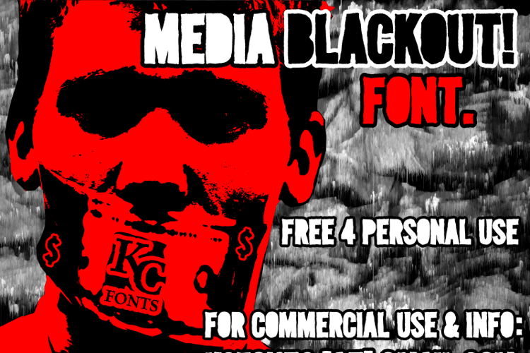 Media Blackout Font