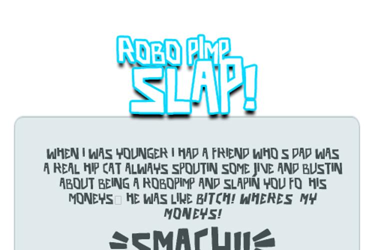 robo pimp slap Font